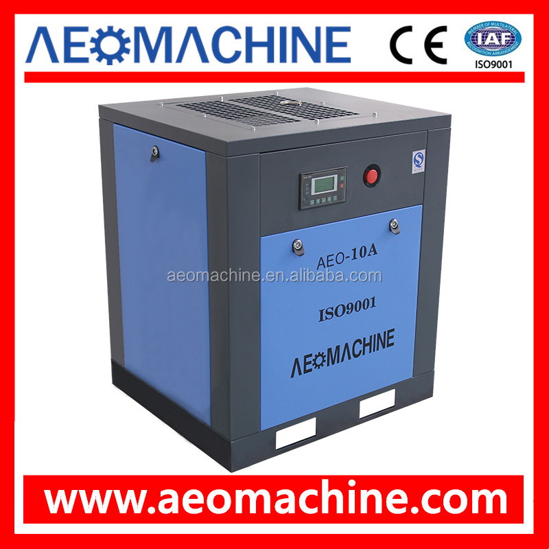 Electric Motor 7.5KW 10HP Industrial Screw Air Compressor Machine For Sale
