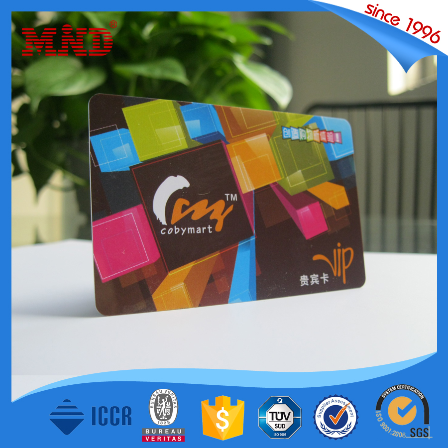 MDCL1043 pvc nfc membership card plastic card with chip
