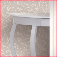 Classic Scroll Design PVC Wallpaper for Kitchen Washable