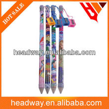 39.5cm souvenir jumbo wooden pencils with Eraser and Sharpener