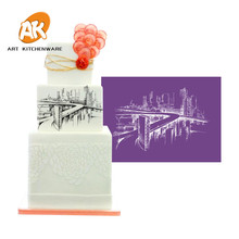 AK Fondant Cake Decorating Soft Transparent Bridge Icing Pastry Tools Birthday Cake Mesh Stencil