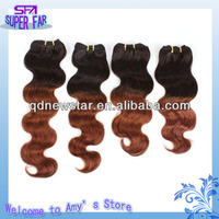 premium quality factory price two color virgin brazilian hair extension