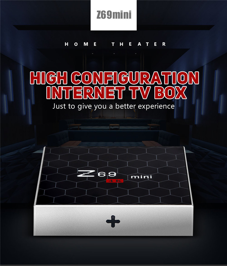 smart tv box Z69 mini Amlogic S912 2G 16G Android 7.1.2stb(set top box)