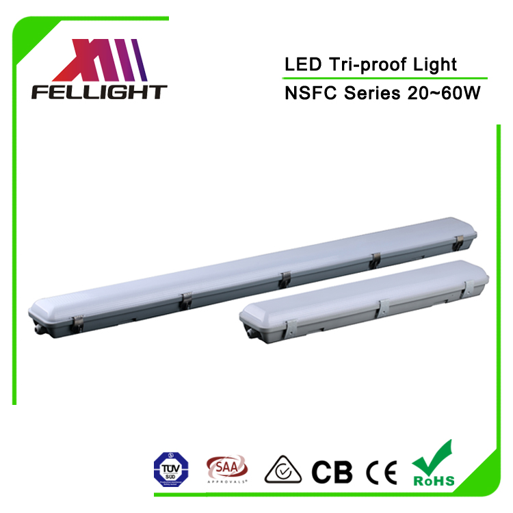 LED super bright outdoor lighting IP65 IK08 60W suspended emergency led ceiling light