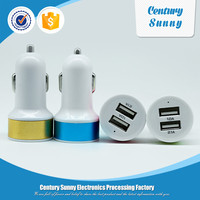 Wholesale Dual Port USB Mini Car Charger For Smart Phone and tablet