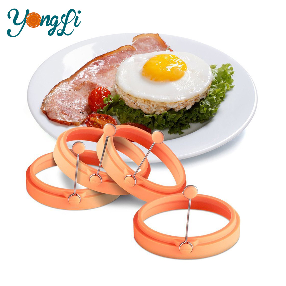 100% Eco-friendly Silicone Fried Egg Former for Kitchen