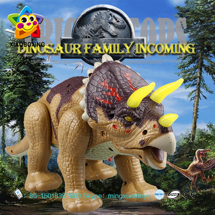 Factory Outlet Battery Operated Triceratops Electric Dinosaur Toy