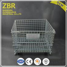 Professional customized pallet cages with wheels cart heavy duty security for sale metal storage