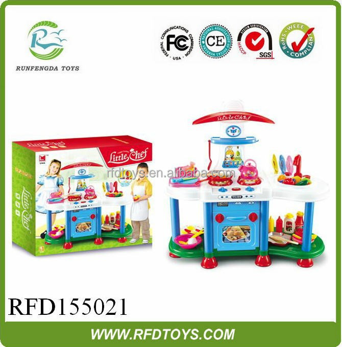 Kids kitchen play set the light music electric stove b/o kitchen toy