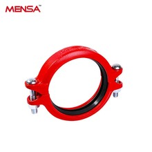 Cast Iron Outlet Fire Protective Pipe Fitting, Galvanised Roll Groove Flexible Coupling