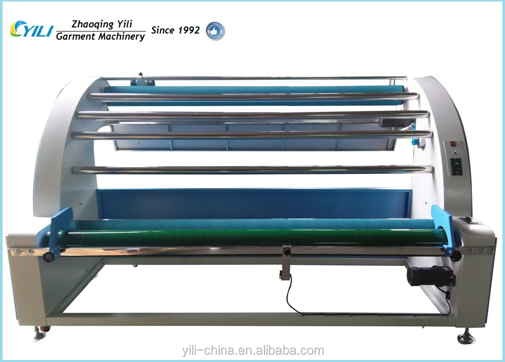Multi function high speed fabric relaxing machine, cloth measuring and folding machine for garment industry finishing