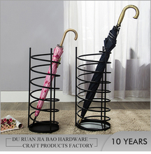 Fashionable design black round fine iron indoor umbrella stand