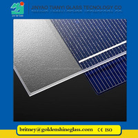 Jinyao ultra clear AR coating tempered solar panel glass