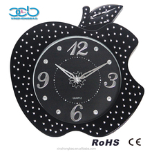 Black Apple shaped wall Clock