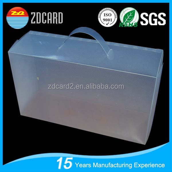 new style cosmetic packaging transparent plastic case