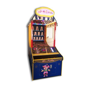 Throwing redemption tickets arcade shooting coin operated down hit the clown game machine