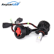 Anycarled Hb1 9007 Headlight Led Bulb H7 Rav4 Leveling Motor On H16 A6 C4 Head Light