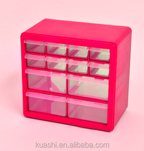 plastic pocket hanging organizer for making up with drawers