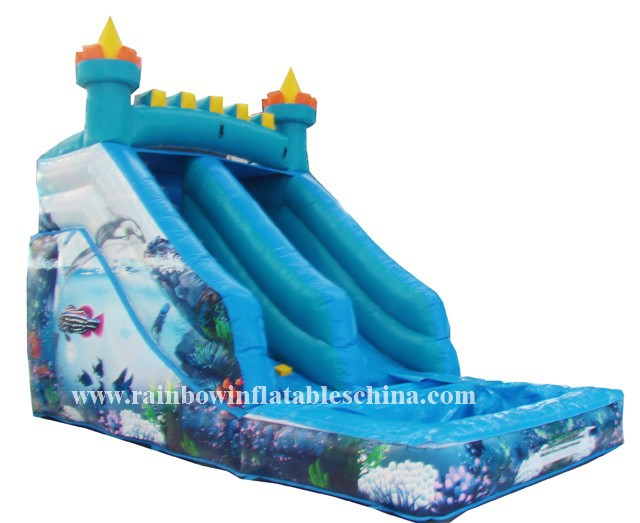 giant inflatable floating banzai commercial inflatable water slide