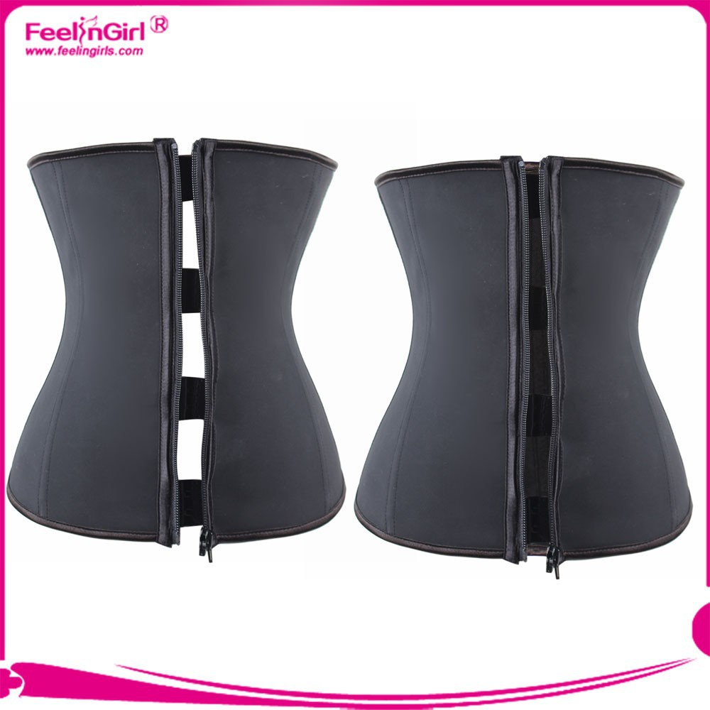 Latest women shaper clip and zipper waist trainer