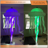 Hot sale lighting led inflatable jellyfish balloon party decorations with inflatable jellyfish
