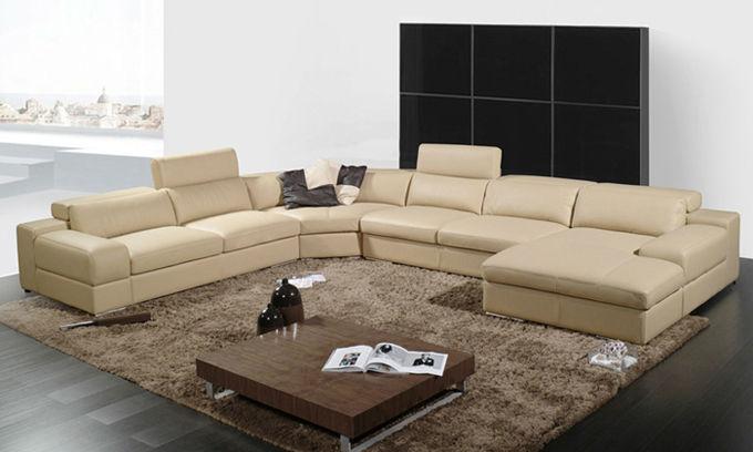 New Design Modern Minimalist Corner Leather Sofa Living Room Furniture ...