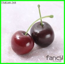 factory direct sale artificial fruit real touch cherry for decoration