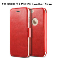 Exclusive Niche Products Top Quality PU Leather Wallet Case For iphone 6 6Plus+4 Card Holders+1 Bill Site+Stand+Logo Hole