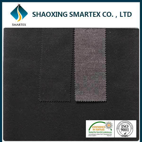 SM-40045 Suit fabric supplier Dyed Brush polyester stretch fabric