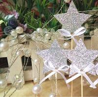 Twinkle Twinkle Little Star Glitter Party Picks