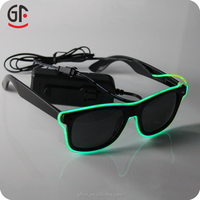 Craft Manufacturer Wholesale Designed International Brand Half Frame EL Wire Sunglasses