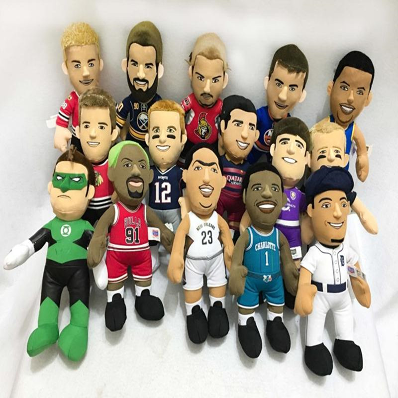 Plush Stuffed Cartoon Basketball Player Football Star Doll Toy