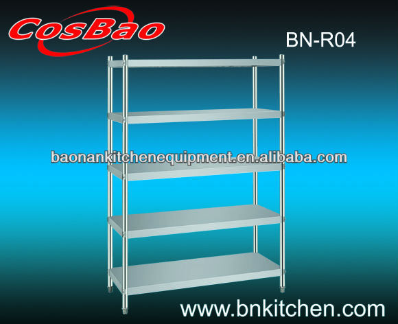Economical Stainless Steel Plate Storage Shelving And Racks BN-R04