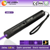 handheld 100mw purple laser pointers with 5 pattern heads safty keys and extensible tube