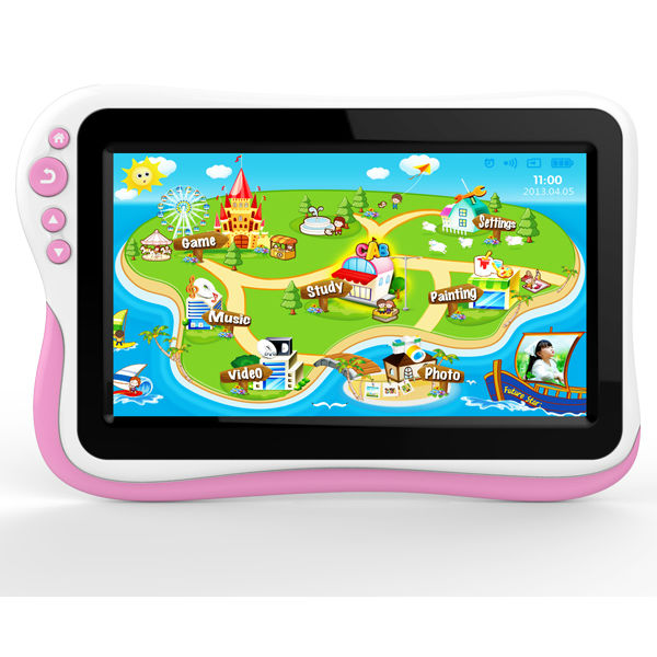 2013, the most popular kids learning pad+HD screen protect eyes