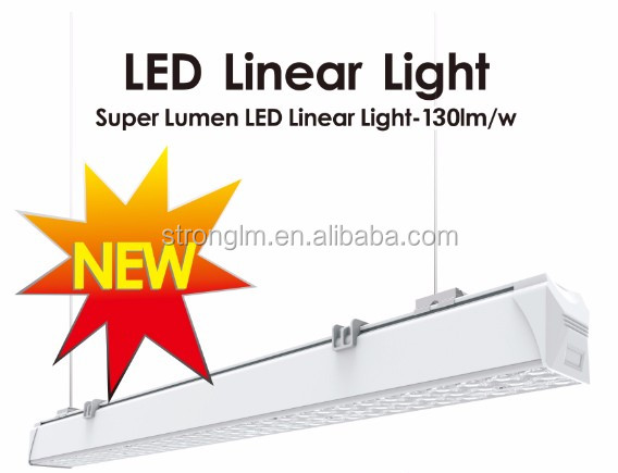 High quality Trunking system 28w/35w/48w/60w Link one by one without gap DIY Led linear pendant light with longlife span