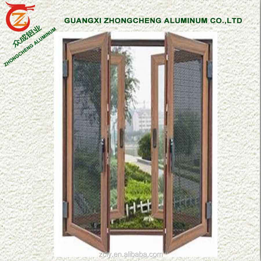 Cheap house used decorative aluminum screen doors with balcony door screens in China doors and windows screen for balcony