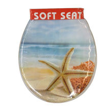 european Size High Quality starfish Printing toilet seat cover