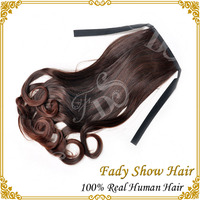 NON synthetic only 100% human hair blonde hair extensions ponytail ponytail hair extension for black women