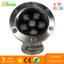 IP68 316 Metal ring 12v Remote Control SMD 3w 5w 6w 7w LED Underwater Fountain Light
