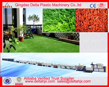 Plastic PP PE man made grass artificial turf flat monofilament production line