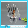 Transparent tower rack for brush, manufacture selling custom makeup eye pencils stand