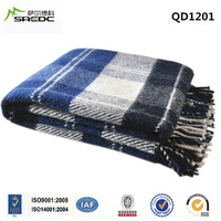 BLUE PHOENIX woven plaid pure wool thick eskimo blanket