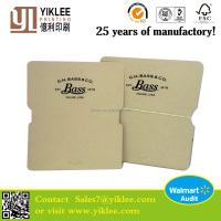 Bass&Co Foldover card Jewelry Packaging&Display Type Paper cardboard folding display card with hot stamp logo