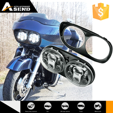 hot sale used car part for harley Davidson cheap motorcycle led lighting dual headlamp for road king