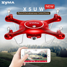 Syma X5UW 4channel rc helicopter long range drone with wifi camera and 360 degree 3D roll headless mode