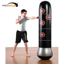 PVC Boxing Training MMA Inflatable Punching Bags Boxing Stand Bag