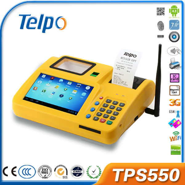 Telepower TPS550 POS Android Tablets/Smartphones Printer Dual SIM NFC SDK