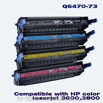 Remanufactured Toner Cartridges for HP Q6470A BK/ Q6471A CY/ Q6472A YL/ Q6473A MG Premium, color toner cartridge for hp toner