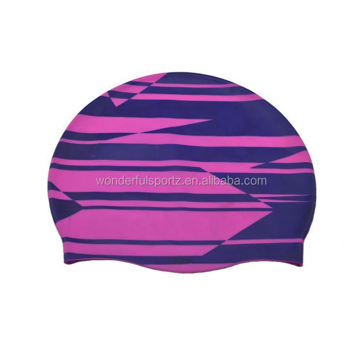 Cartoon Silicone Swim Cap,Dome Swim Cap,Baby Girl Swim Cap
